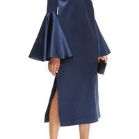 Mayfair V-Neck Satin Midi Dress by Ellery - Moda Operandi