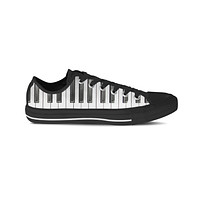 Piano Keyboard Low Top Shoes-Clearance