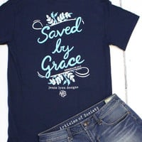 Saved by Grace Tee {Navy}