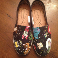 Disney Character Hand Painted Shoes