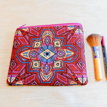 Boho Gift for Her, Pencil Case, Make Up Bag, Bestfriend Gift, Bridesmaid Gift, Gift for Wife, Gift for Mom, Sister Gift, Birthday Gift, Case