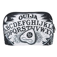 Ouija Spirit Board and Planchette Black Magic Makeup Cosmetic Bag