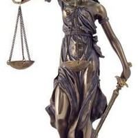 Blind Lady of Justice (Goddess Justicia), Bronze Finish 12H