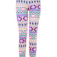 Print Neon Print Leggings at Fashion Union