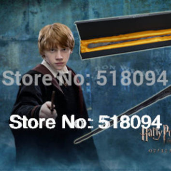 "Free Shipping 10pcs/lotHot Harry Potter Ron Weasley 14"" Magical Wand Replica"