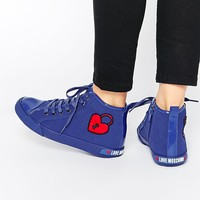 Love Moschino Heart High Top Plimsolls at asos.com