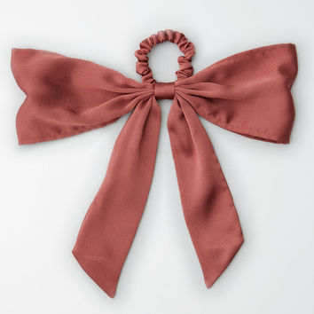AEO Bow Hair Tie, Pink
