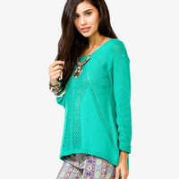 High-Low Open-Knit Sweater | FOREVER 21 - 2026776893