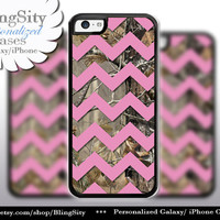 Monogram iPhone 5C 6 6 Plus Case Camo Pink Chevron iPhone 5s iPhone 4 case Ipod 4 5 case Real Tree Personalized Country Inspired Girl