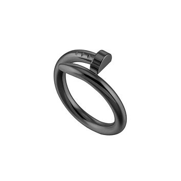 Semicircle Nail Stainless Steel Rings