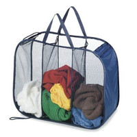 Deluxe Laundry Hamper - Pop Open Sorter Colors Vary