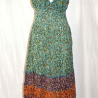 Small Boho Broomstick Casual Dress Hippie NWT Smocked
