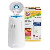 Arm & Hammer Diaper Pail with One 25 Count Refill Bag and Baking Soda Cartridge by Munchkin