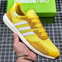 Adidas New fashion couple running shoes Yellow