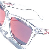 NEW* Oakley Frogskins Clear Crystal w TORCH Iridium Sunglass oo9013