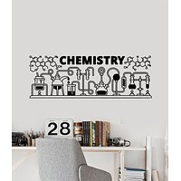 Vinyl Wall Decal Chemistry Words Science Laboratory Decor Stickers Mural (g2494)