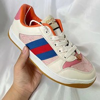 GG Men's and Women's Double G Fashion Sneakers Shoes