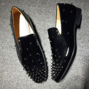 DCCK2 Cl Christian Louboutin Loafer Style #2335 Sneakers Fashion Shoes
