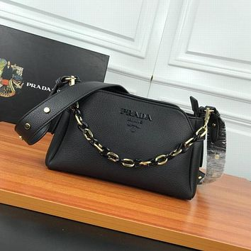 prada women leather shoulder bags satchel tote bag handbag shopping leather tote crossbody 332