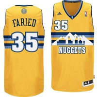 Denver Nuggets Kenneth Faried Adidas Yellow Swingman #35 Jersey