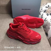 DARK RED BALENCIAGA SNEAKERS SHOES FOR WOMEN MEN GIFT