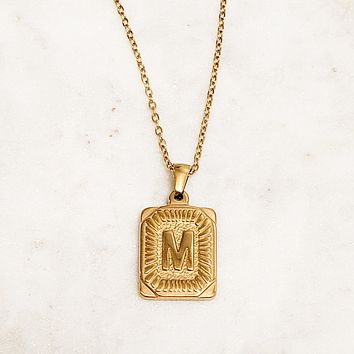 Initial Vintage Necklace