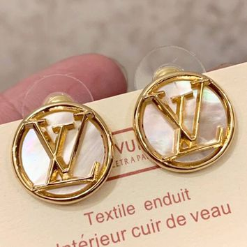 LV Tide brand female retro earrings