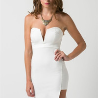 Cocktails and Dreams Ivory Midi Dress