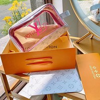 LV simple jelly cosmetic bag two-piece set