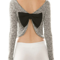 Bow Back Knit Crop Top