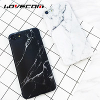 Black White Marble Vein Soft IMD Phone Back Cover Case For iPhone 7 For iPhone 6 6S 7 Plus Anti-Knock Mobile Phone Cases Bags