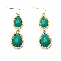 Emerald Pebble Drop Earrings
