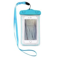 Color Waterproof Underwater Pouch Bag Pack Case For Cell Phone iPhone 6/ Plus 5S(light blueLuminous)