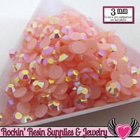 3mm 300 pcs AB Light PINK Jelly RHINESTONES