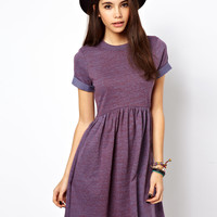 ASOS Smock Dress In Nepi Sweat