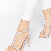 New Look Swarm Barely There Lilac Heeled Sandals