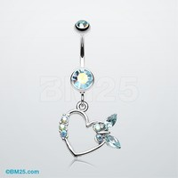 Butterfly Romance Belly Button Ring