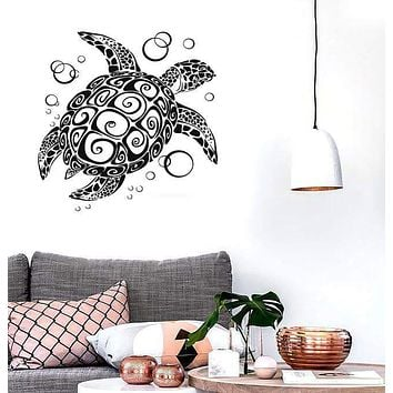 Wall Sticker Vinyl Decal Turtle Bathroom Animal Sea Ocean Marine Decor (ig1555)