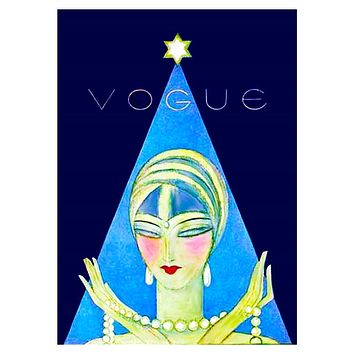 Art Deco Flapper with Pearls Vogue by Helen Dryden  Counted Cross Stitch Pattern