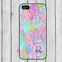 iPhone 6 Case Lilly Pulitzer Inspired Monogram Elephant iPhone  iPhone 4s Case iPhone 5 Case iPhone 5s Case iPhone 5c Samsung S4 Samsung S5