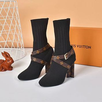 New Arrival LV Louis Vuitton Women's Leather BOOTS HEELS SHOES WARM WINTER 2020 - FROM men jersep