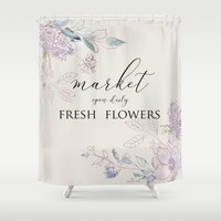 fresh flower market Shower Curtain by sylviacookphotography