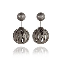 Punk Earring Double Sided Pearls Sweets Earrings [6044402241]