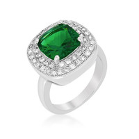 Green Bridal Cocktail Ring, size : 08