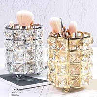 Metal Makeup Brush Storage Tube Eyebrow Pencil Makeup Organizer