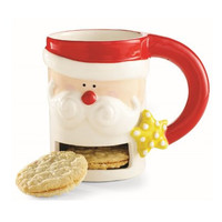 Christmas Santa & Co. Cookie Mug by Mud Pie