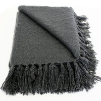Liz Gray Faux Mohair Throw