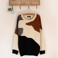 the peace dove collision color then fight cows sweater from Fashion Accessories Store