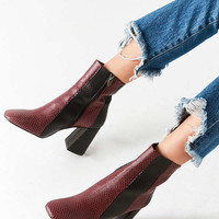 Crosswalk Striped Leather Ankle Boot | Urban Outfitters