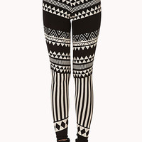 Abstract Tribal Print Leggings